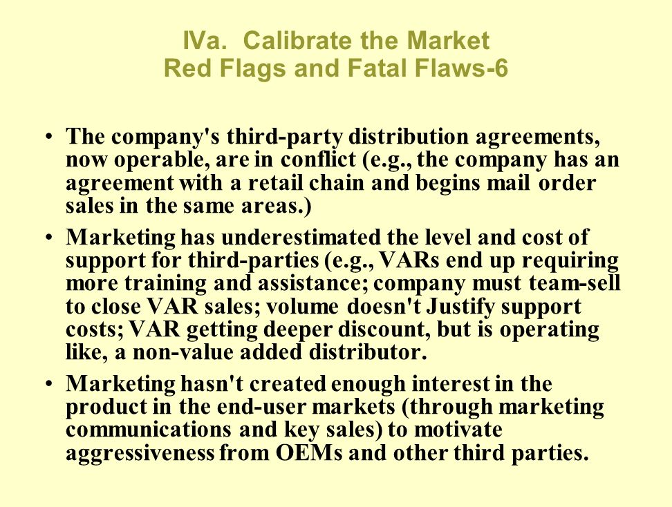 IVa. Calibrate the Market Red Flags and Fatal Flaws-6