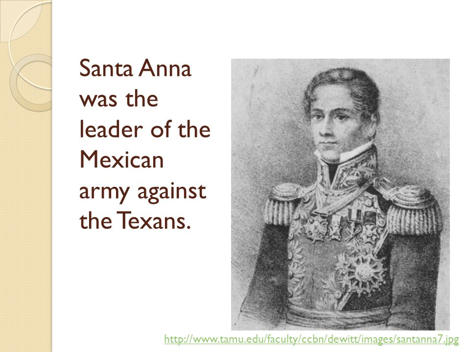 did general antonio lopez de santa anna start the texas revolution The role of texas independence in the history of the united states of general antonio lópez de santa anna came to power in mexico see texan revolution.