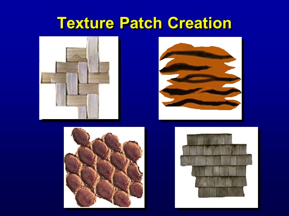 Texture Patch Creation