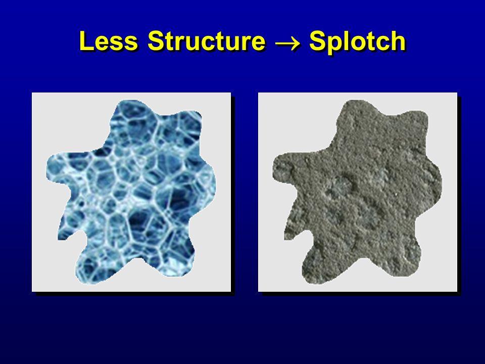 Less Structure  Splotch