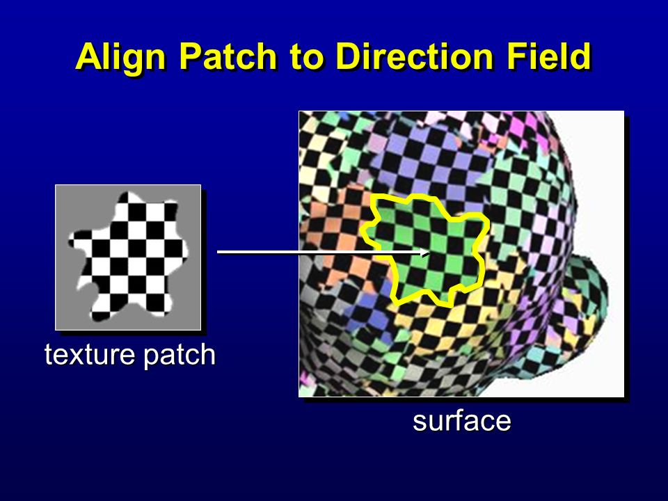 Align Patch to Direction Field