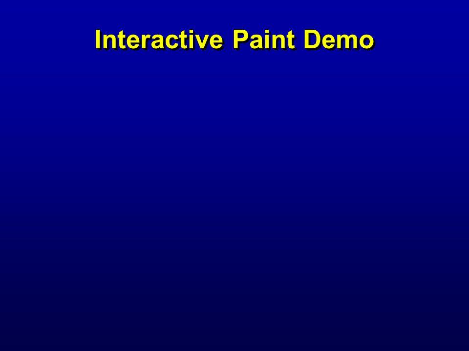 Interactive Paint Demo