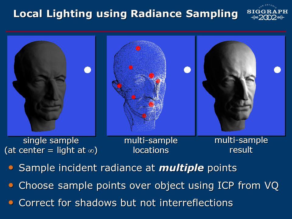 Local Lighting using Radiance Sampling