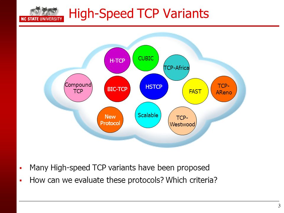 High-Speed TCP Variants