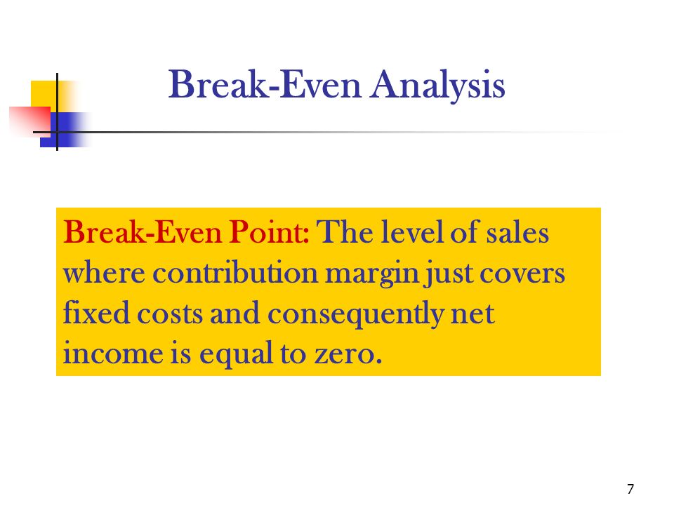 contribution margin and break even analysis Contribution margin analysis, which compares the profitability of different products, lines or services you offer breakeven analysis, which tells you the sales volume you need to break even under different price or cost scenarios.