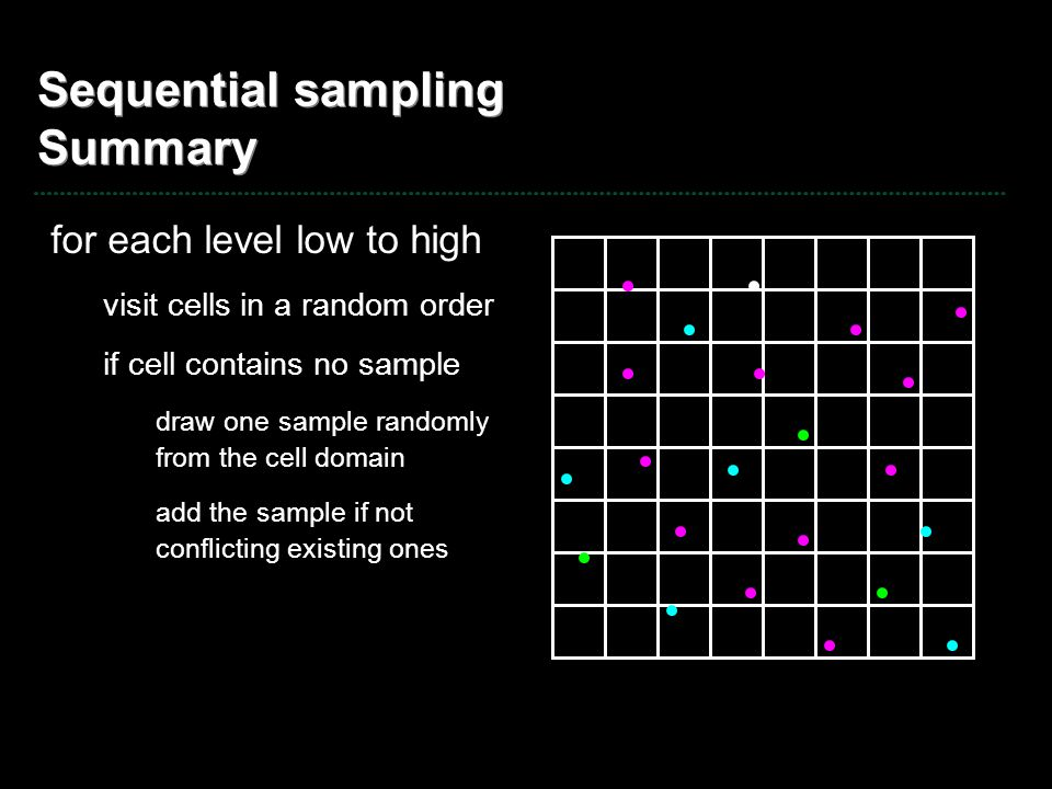 Sequential sampling Summary