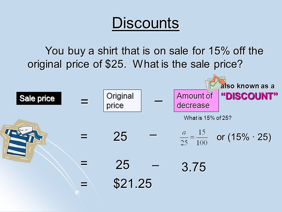 How To Take 25 Percent Off A Price >> Do Now 2/17/14 Take out HW from last Wednesday night. - ppt download