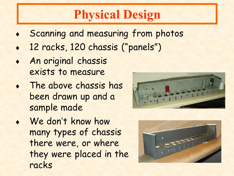 Physical Design Scanning and measuring from photos