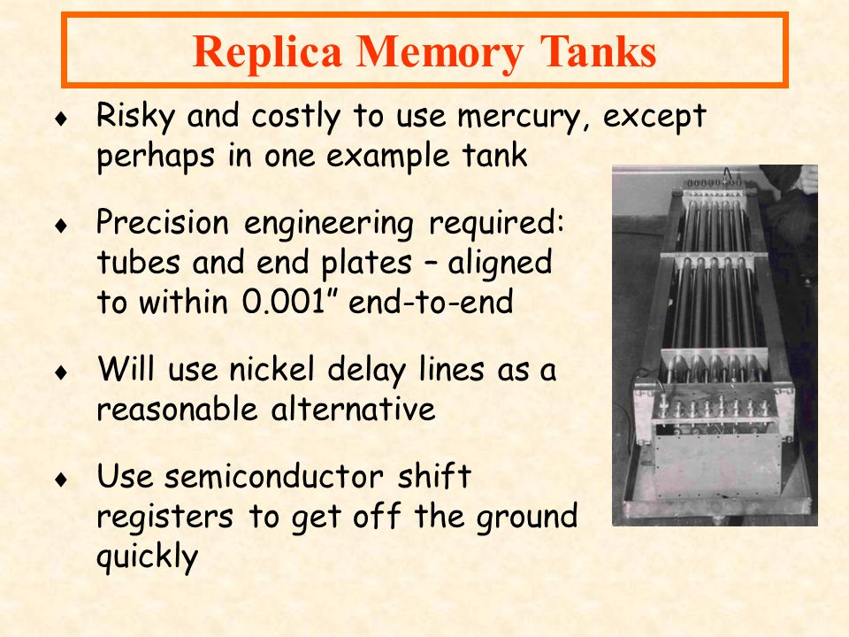 Replica Memory Tanks Risky and costly to use mercury, except perhaps in one example tank.