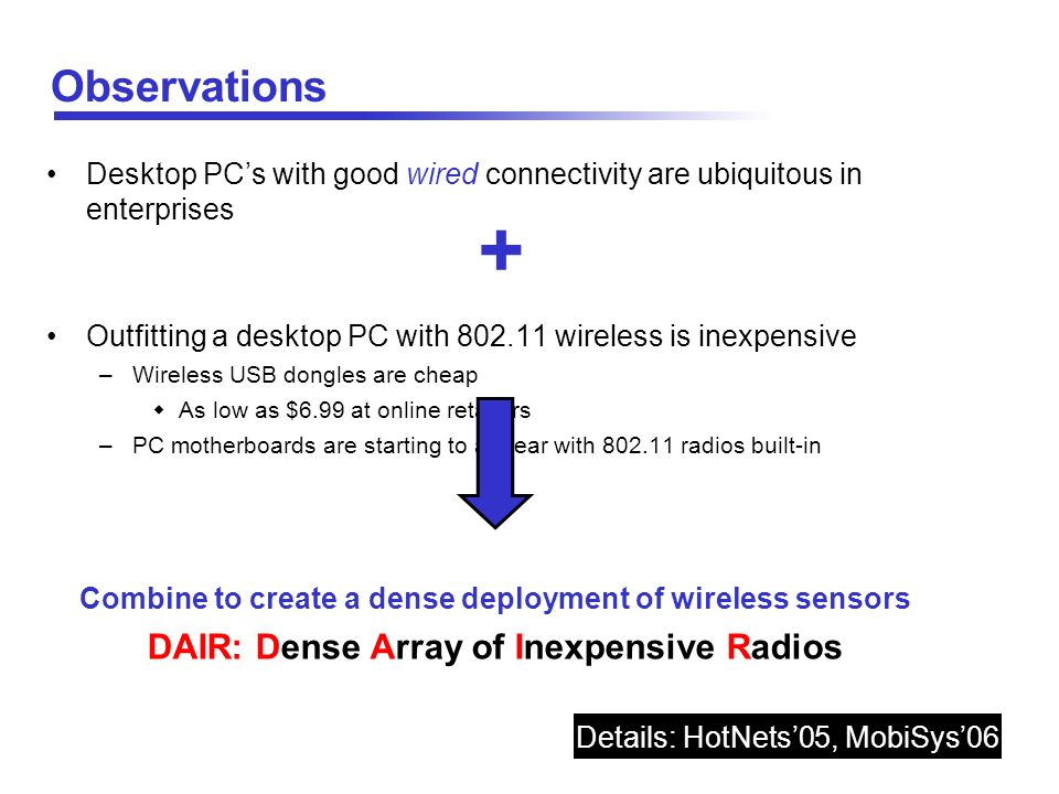 + Observations DAIR: Dense Array of Inexpensive Radios