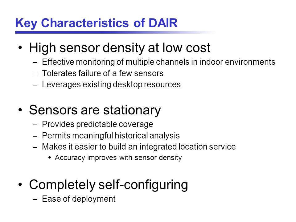 Key Characteristics of DAIR