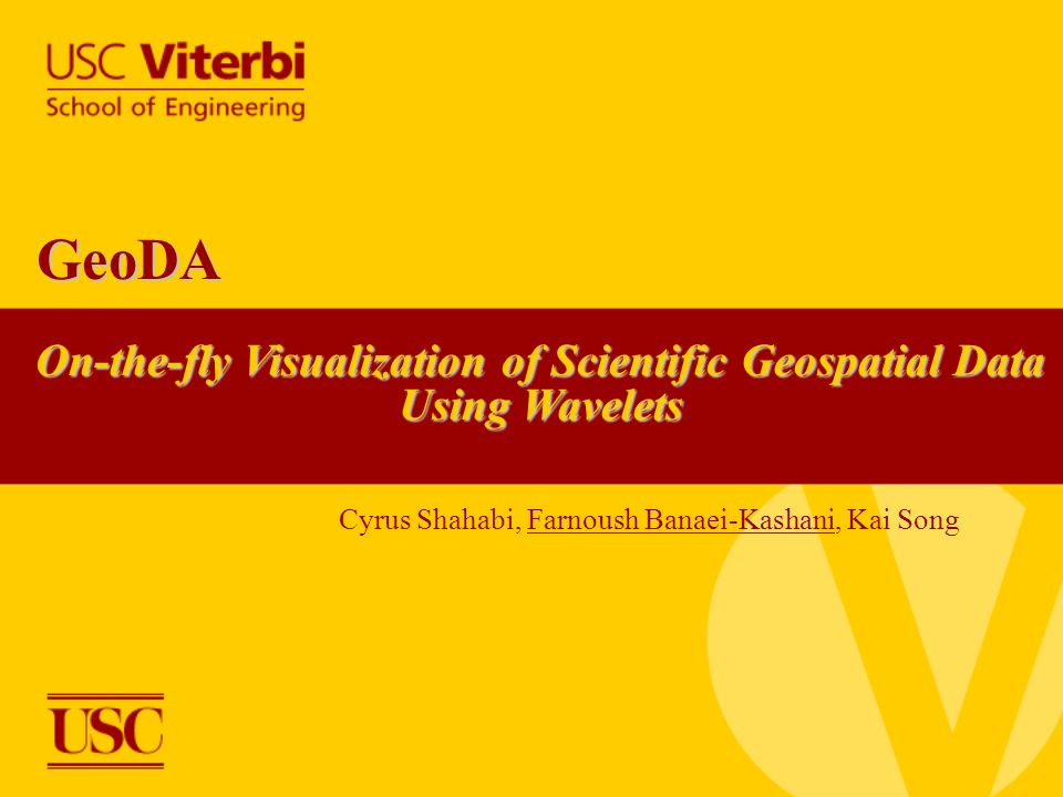 On-the-fly Visualization of Scientific Geospatial Data Using Wavelets