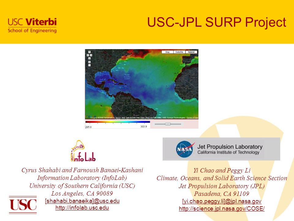 USC-JPL SURP Project Cyrus Shahabi and Farnoush Banaei-Kashani