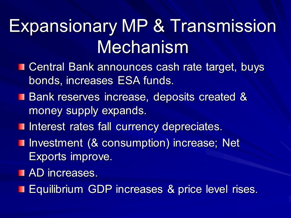 Expansionary MP & Transmission Mechanism