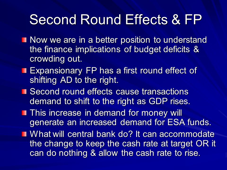 Second Round Effects & FP