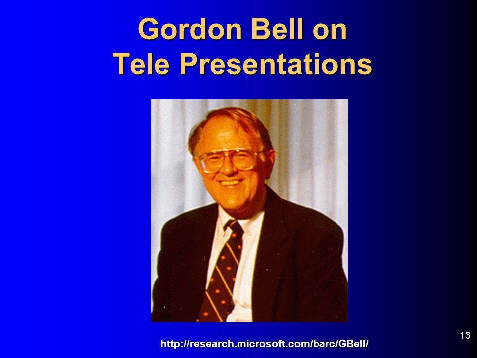 Gordon Bell on Tele Presentations