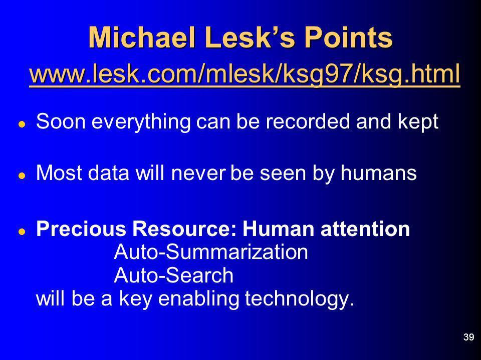 Michael Lesk's Points www.lesk.com/mlesk/ksg97/ksg.html