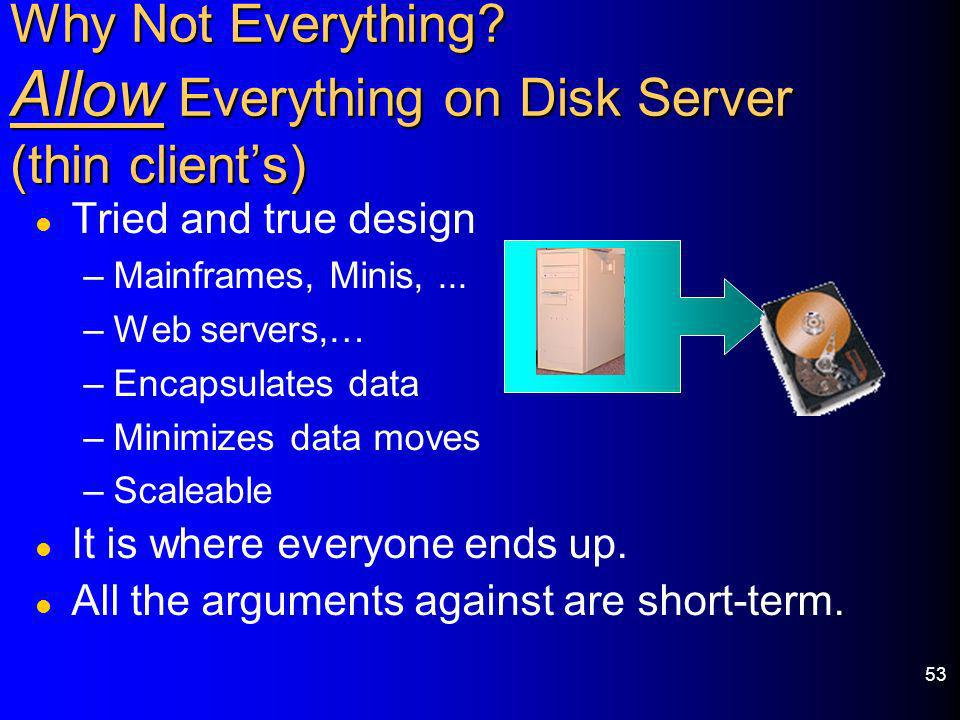 Why Not Everything Allow Everything on Disk Server (thin client's)