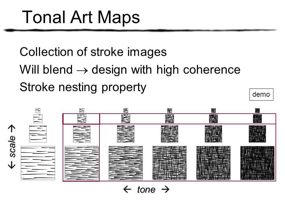 Tonal Art Maps Collection of stroke images