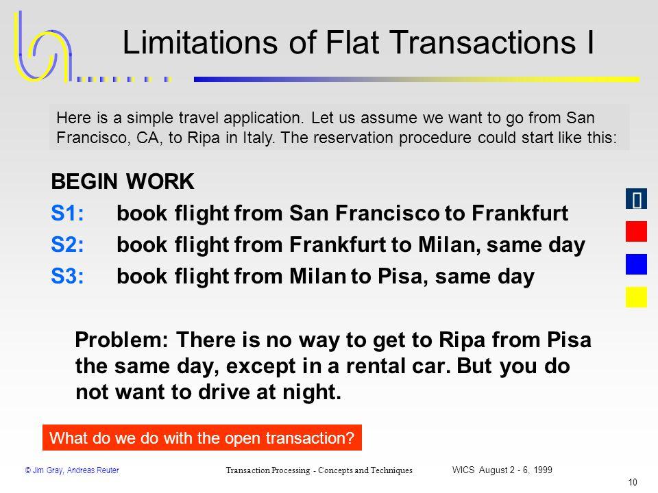 Limitations of Flat Transactions I
