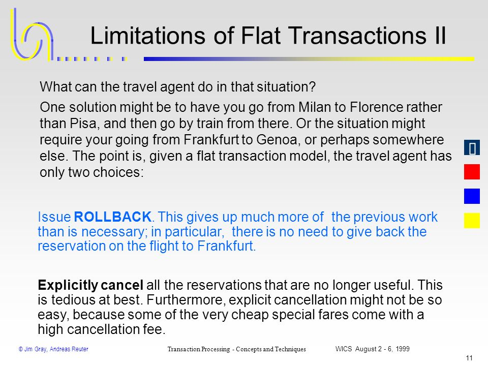 Limitations of Flat Transactions II