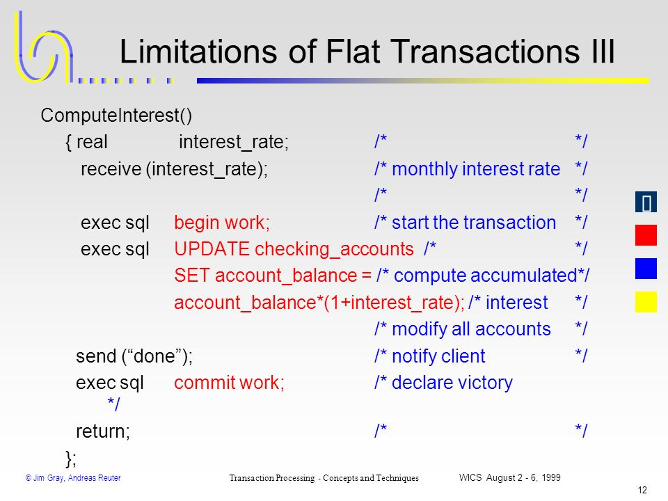 Limitations of Flat Transactions III