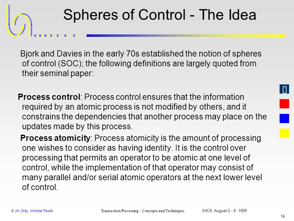 Spheres of Control - The Idea