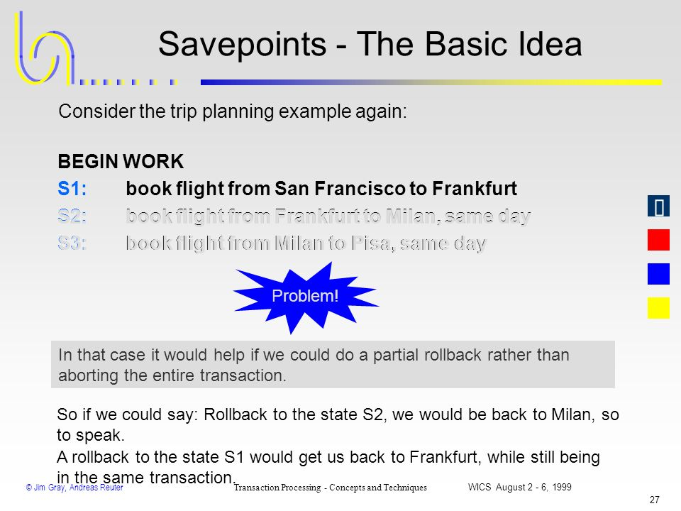 Savepoints - The Basic Idea