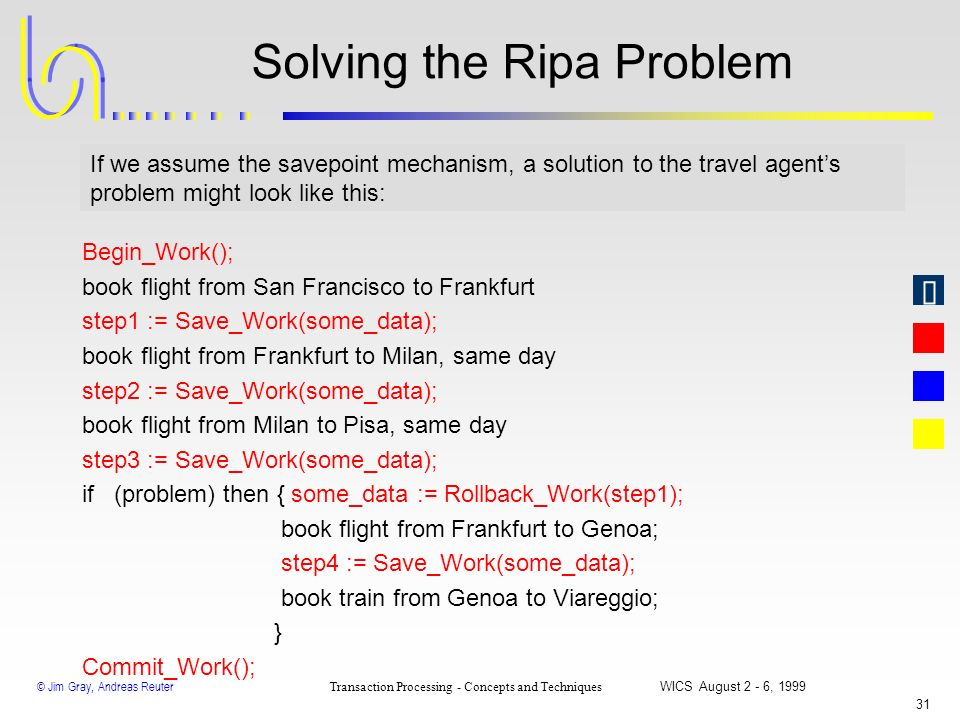 Solving the Ripa Problem