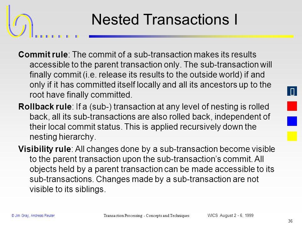 Nested Transactions I