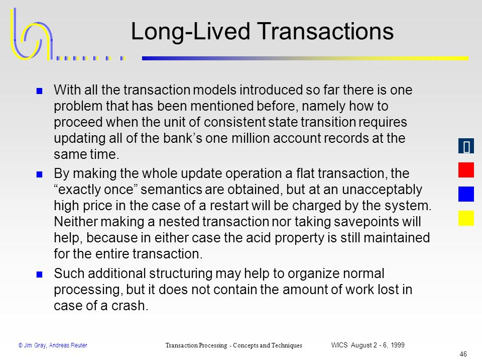 Long-Lived Transactions
