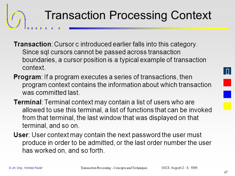 Transaction Processing Context