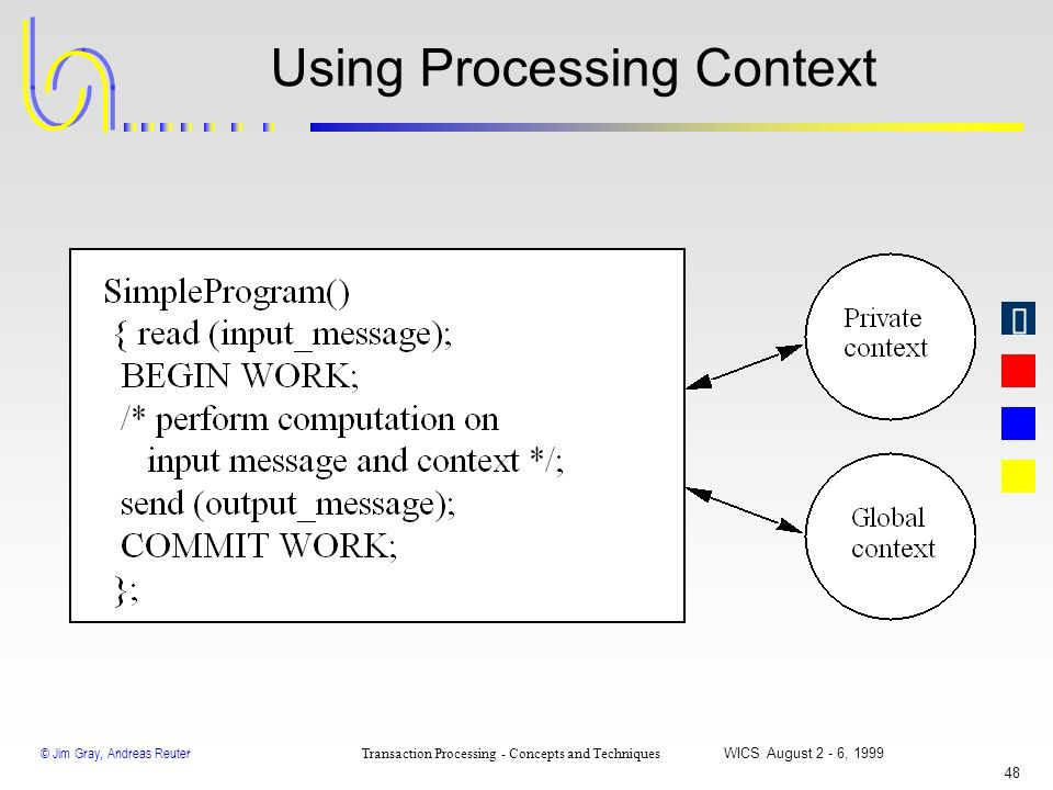 Using Processing Context