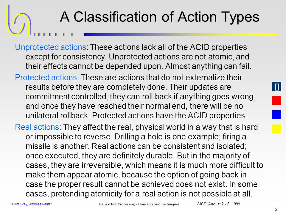 A Classification of Action Types