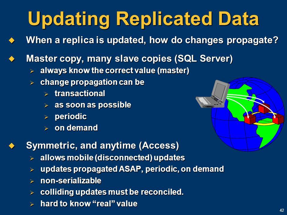 Updating Replicated Data