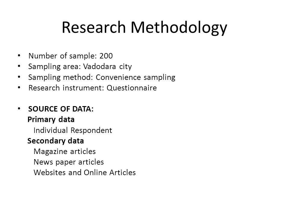 Research methodology primary data and secondary data