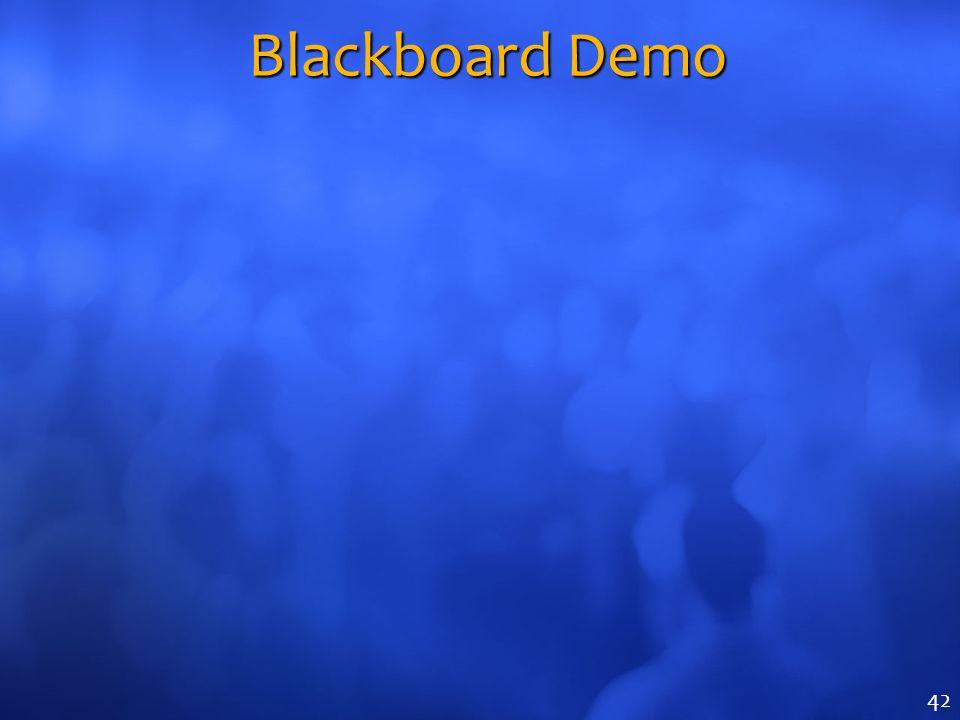 Blackboard Demo