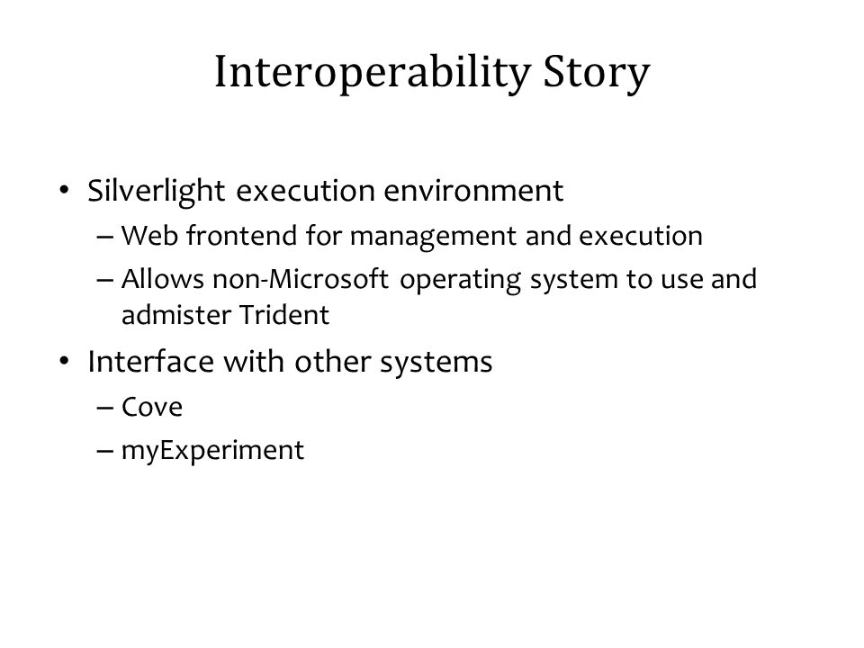 Interoperability Story