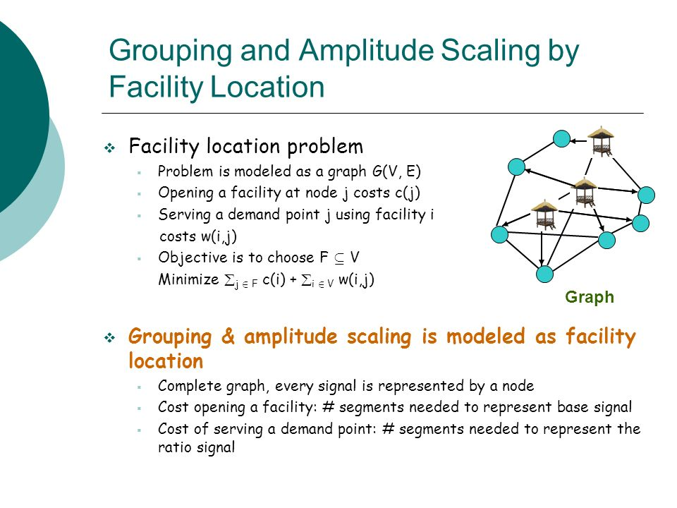 Grouping and Amplitude Scaling by Facility Location