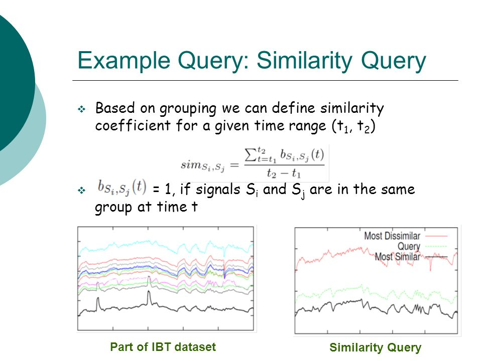 Example Query: Similarity Query
