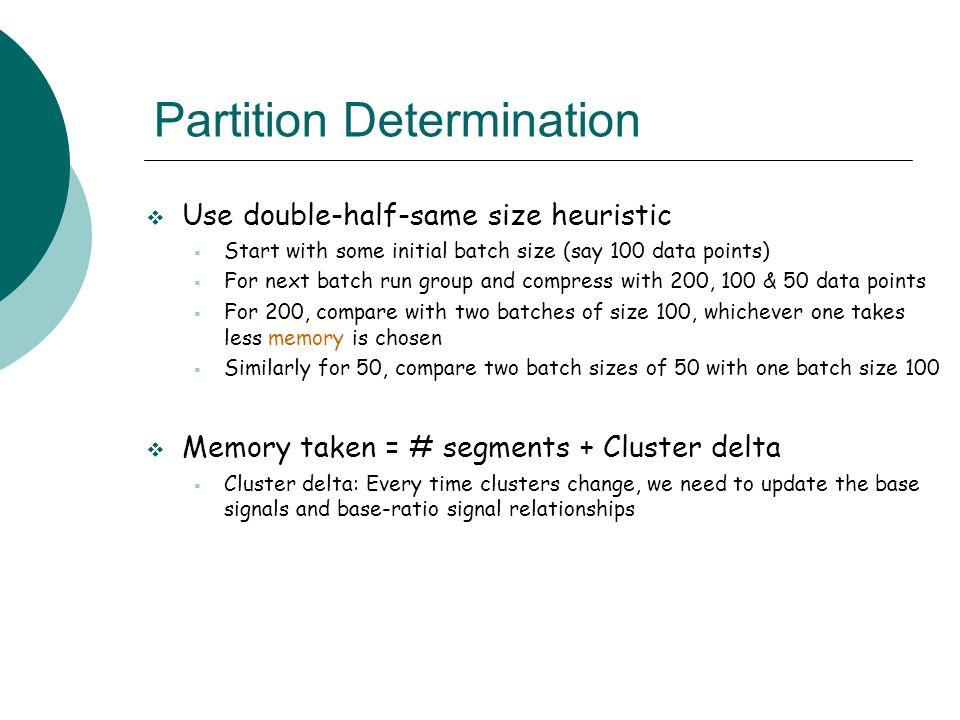 Partition Determination