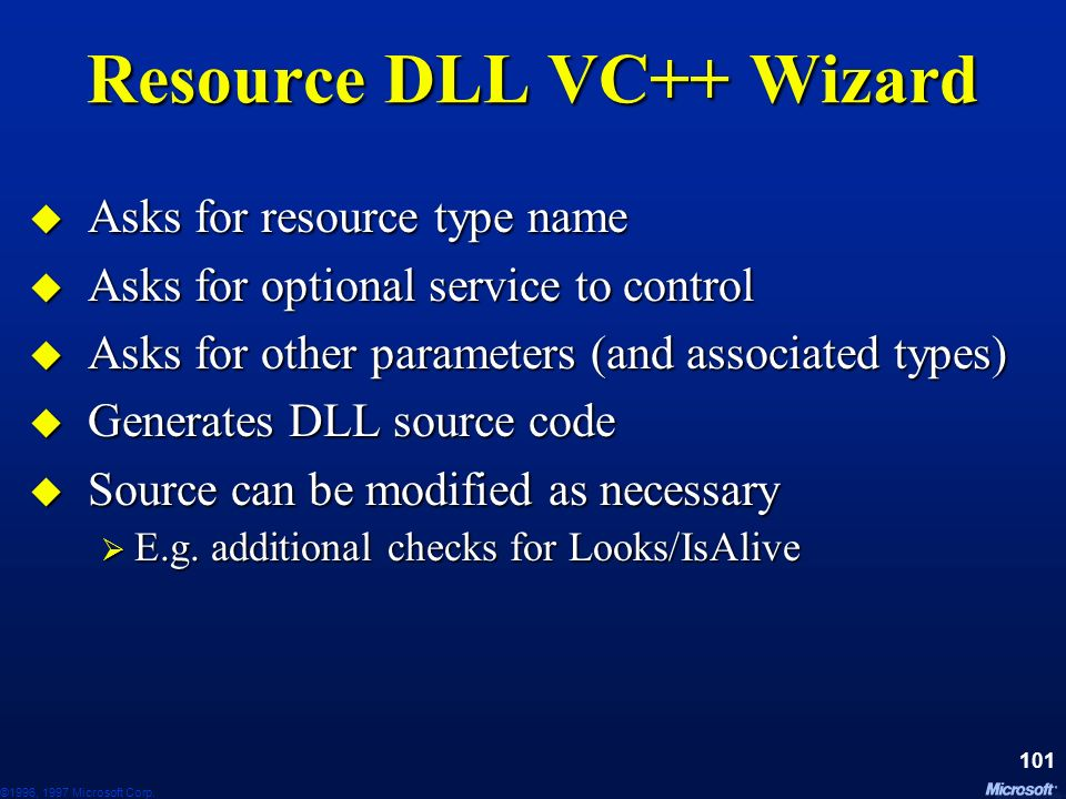Resource DLL VC++ Wizard