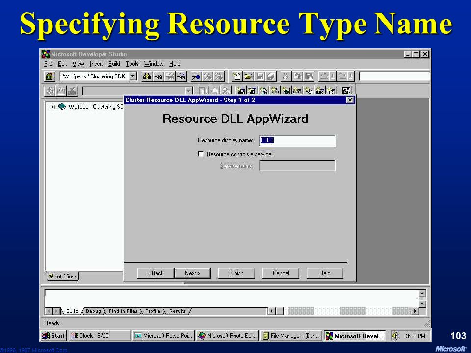 Specifying Resource Type Name