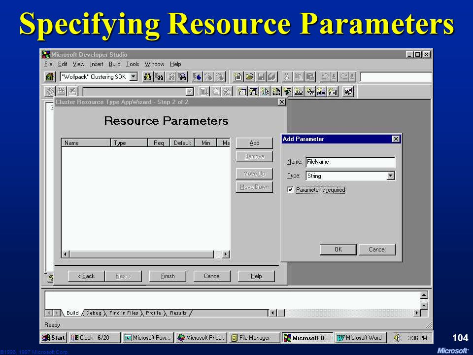 Specifying Resource Parameters