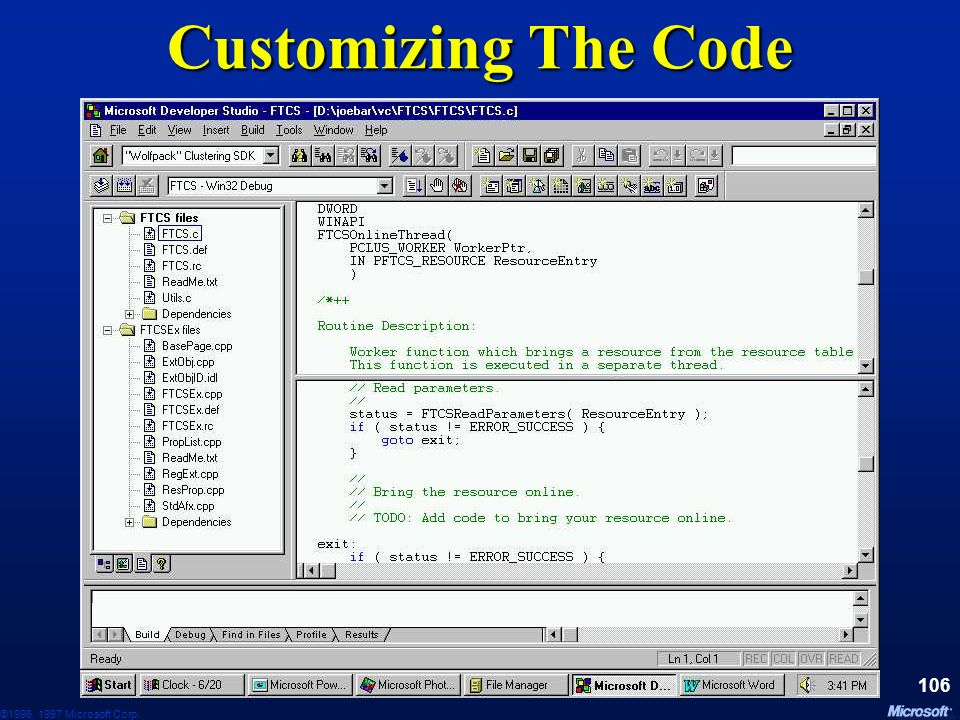 Customizing The Code