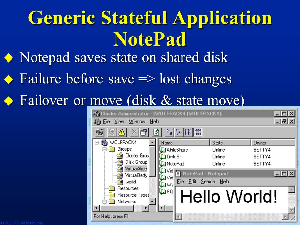 Generic Stateful Application NotePad