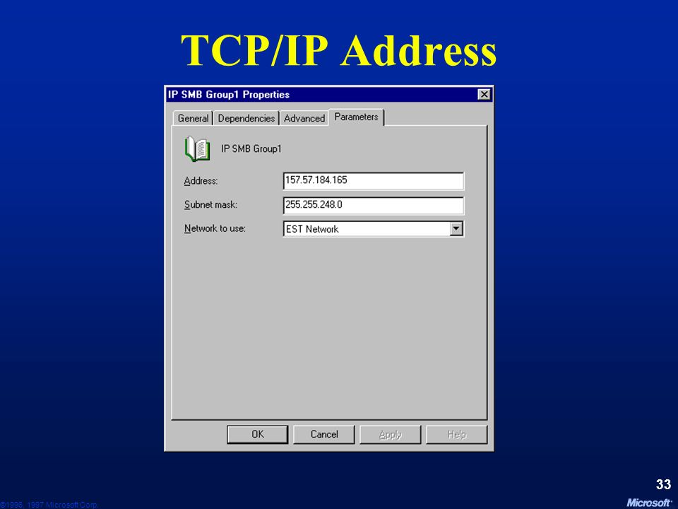 TCP/IP Address