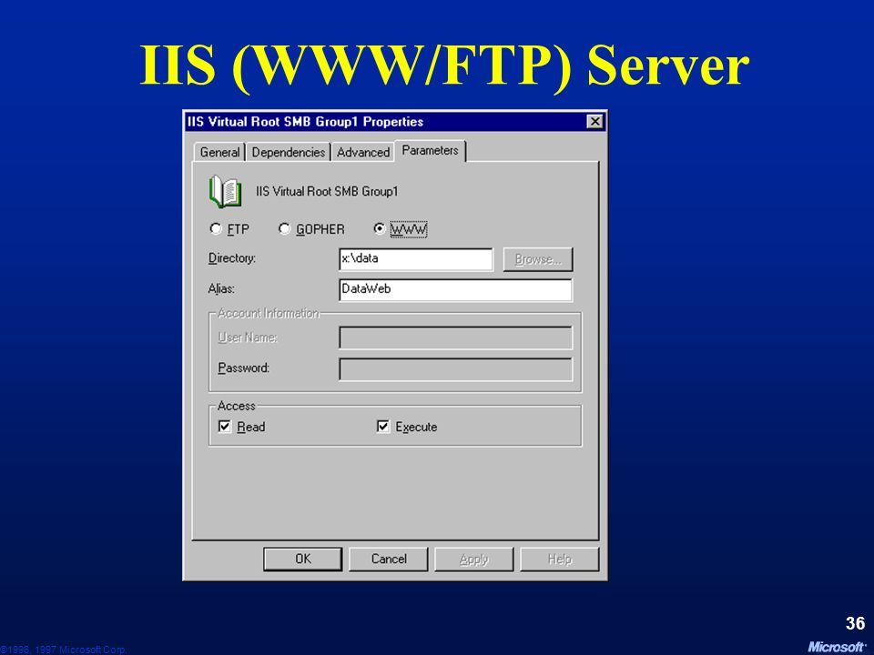 IIS (WWW/FTP) Server