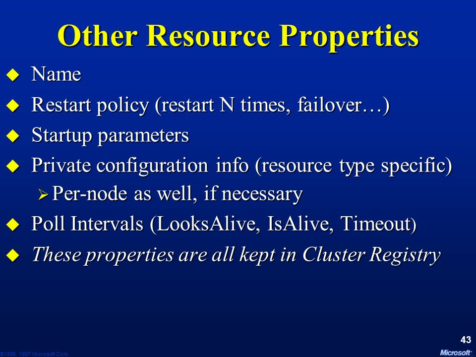 Other Resource Properties