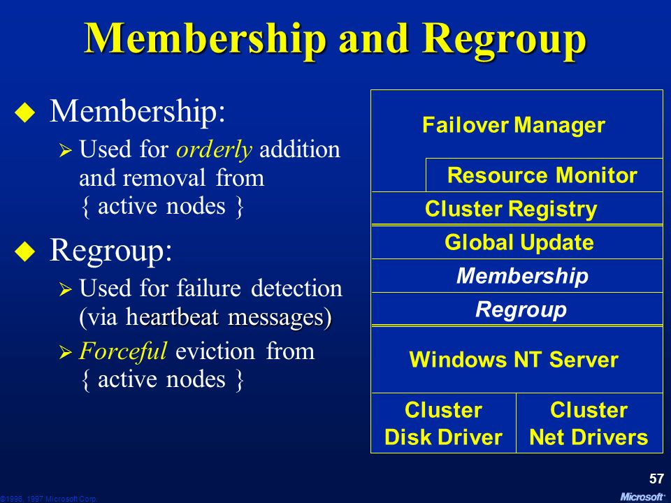 Membership and Regroup
